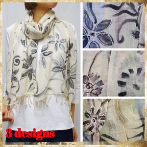 [ 2020NewItem ] Stole Hand-Painted Design Embroidery Cotton Hand-Painted Stole
