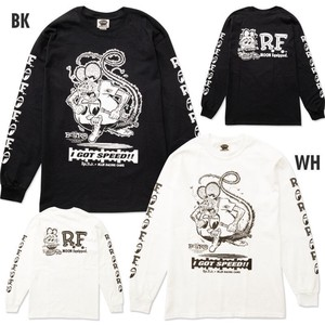 MOON Rat Fink x MOON Equipped ロング スリーブ Tシャツ [MQTL153]