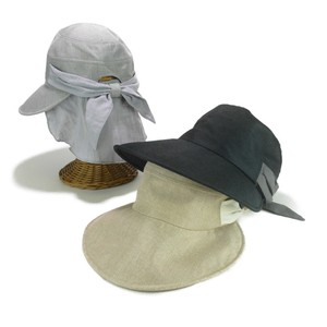 Light-Weight Eco Linen Cup Detachable Ladies Hats & Cap