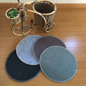 Felt Material Chair Pad Same Color 2 Pcs