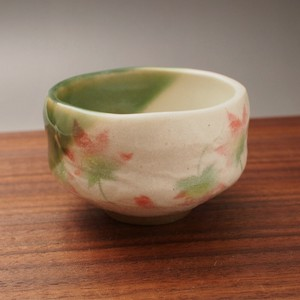 Autumn Leaves Mini Japanese Tea Cup Mino Ware Made in Japan