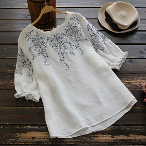 Linen Embroidery Shirt