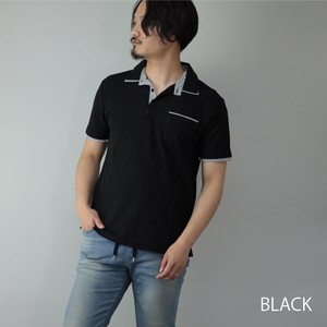 [ 2020NewItem ] Polo Shirt Men's Short Sleeve Pocket Stripe Kanoko Fast-Drying Dry Golf