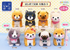 """MAMESHIBA SANKYOUDAI"" Dog Soft Toy All Stars [Size LMC]"