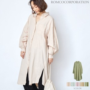 [ 2020NewItem ] SOFT Long Shirt One-piece Dress