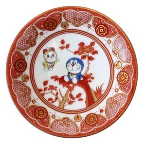 Doraemon KUTANI Ware Mini Dish Antique Painting Style Series Iida