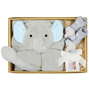 Di Food Bathing Towel Baby Ruttle Socks Set Elephant