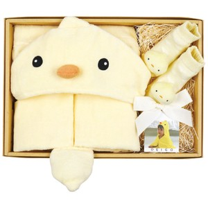 Di Food Bathing Towel Baby Ruttle Socks Set