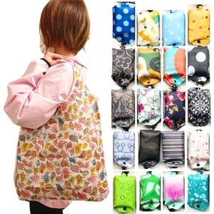 [ 2020NewItem ] Print Eco Bag Karabiner Attached Tote pin Bag Folded Life