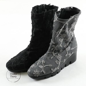 [ 2020NewItem ] Brilliant Floral Pattern Lace Original Short Boots