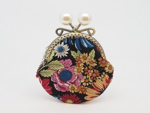 Feeling Coin Purse Pouch Coin Case Base Floral Pattern Black