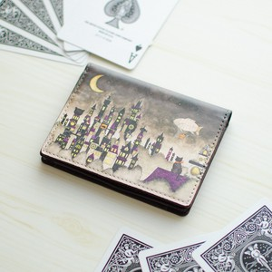 Card Case Cat Crescent Moon Dream
