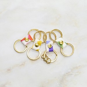Ribbon Key Ring Dot Dot Genuine Leather Spain Leather Key Ring Ladies
