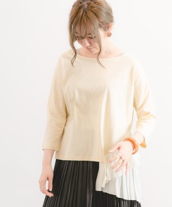 Jersey Stretch Pleats Pullover