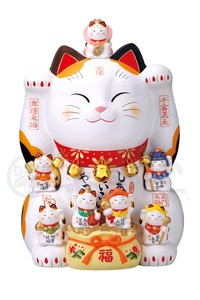 Kinsai Seven Deities Of Good Luck Beckoning cat Size 20