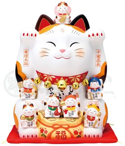 Kinsai Seven Deities Of Good Luck Beckoning cat Size 12