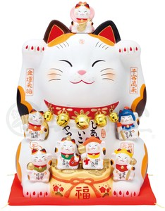 Kinsai Seven Deities Of Good Luck Beckoning cat Size 5
