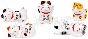 Beckoning cat Chopstick Rest Set