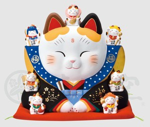 Kinsai Seven Deities Of Good Luck Fukusuke Beckoning cat Size 10