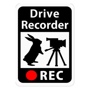 Drive Recorder Sticker Rabbit Video Camera Magnet