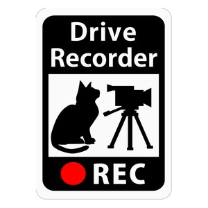 Drive Recorder Sticker Cat Video Camera Magnet