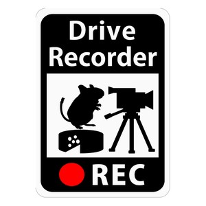 Drive Recorder Sticker Video Camera Magnet