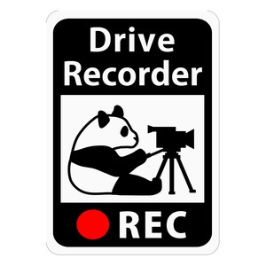 Drive Recorder Sticker Panda Bear Video Camera Magnet