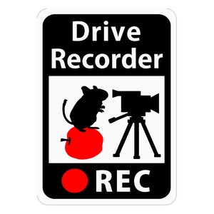 Drive Recorder Sticker Apple Video Camera Magnet