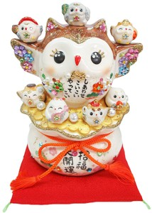 Ornament Better Fortune Seven Deities Of Good Luck Owl [ 2020NewItem ]