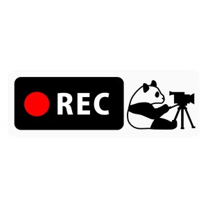 Drive Recorder Sticker Panda Bear Video Camera Type Magnet
