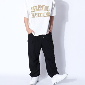 [ 2020NewItem ] Effect Material Lip Top Cargo Pants
