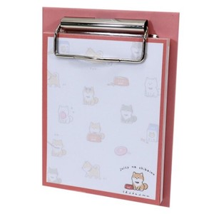 Memo Pad Objects and Ornaments Ornament Dog Binder Attached Memo Pad