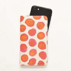 iPhone Case Notebook Type Smartphone Case Dot Ladies Red