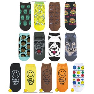 Ankle Socks Men's Gorilla Panda Bear