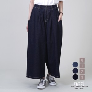 Denim Gaucho Pants wide pants