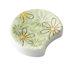 Pottery Chopstick Rest Flower Half-Moon
