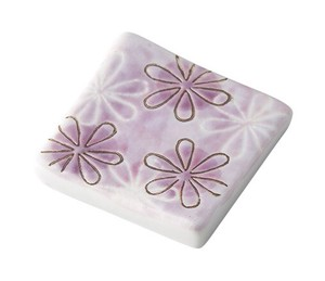 Pottery Chopstick Rest Flower Square