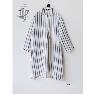 LINE STRIPE uni Linen Stripe Shirt Tunic Made in Japan