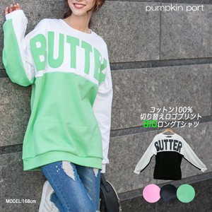 [ 2020NewItem ] Korea Cotton Face Switch Fluorescence Foaming Print Big Long T-shirt