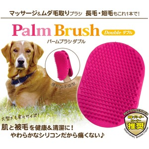 Massage Unwanted hair Palm Brush Double
