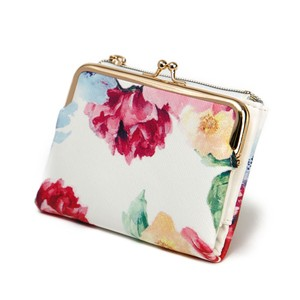 Watercolor flower Clamshell Wallet Coin Purse Wallet Broom Ladies Coin Purse