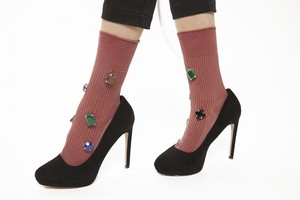 FAKUI COLOR BIJOUX Socks PINK