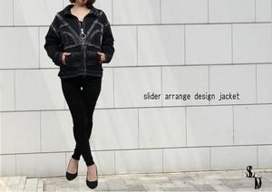 ″wash slider arrange jacket″ 2way洗い加工デザインZIPジャケット