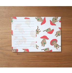 Letter Paper Mushrooms Cat 30 Pcs