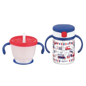 Richell Baby Aqulea Straw Mug Set Navy Blue
