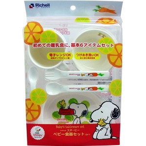 Richell Baby Snoopy Baby Plates & Utensil Set