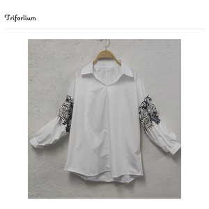 [ 2020NewItem ] Lace Switch Long Sleeve Blouse