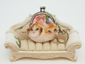 [ 2020NewItem ] Feeling Coin Purse Bag Charm Base Flower Cat