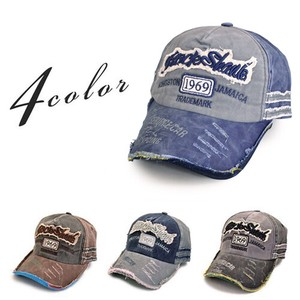 MAGGIO Candy Taste Rock Embroidery Damage Cap Hats & Cap