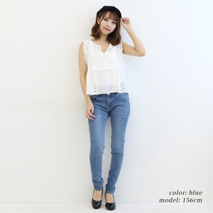 Button High-waisted Skinny Denim Pants